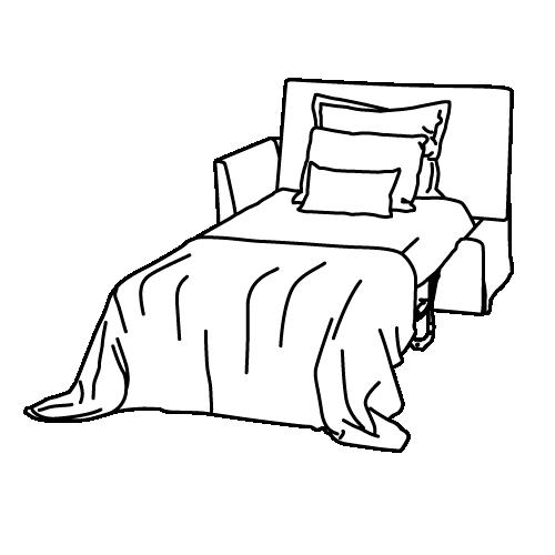 Jazz Bed Unfolded